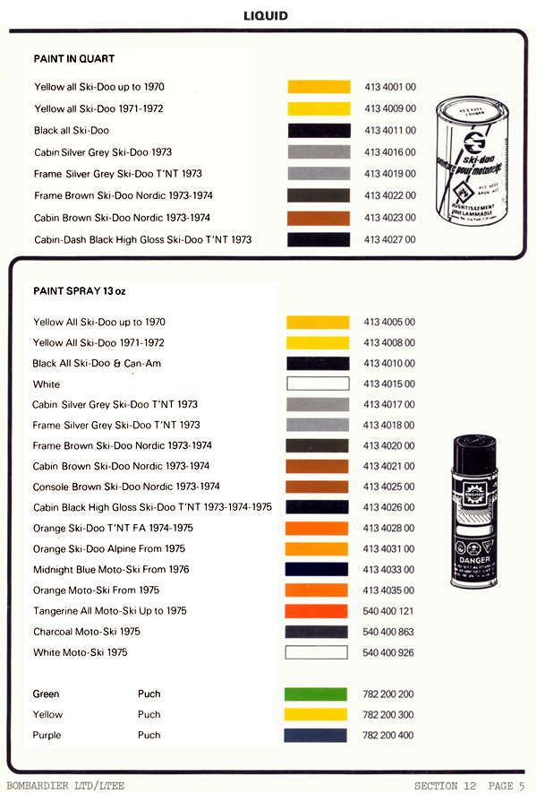 Paint Code For Bombardier Yellow