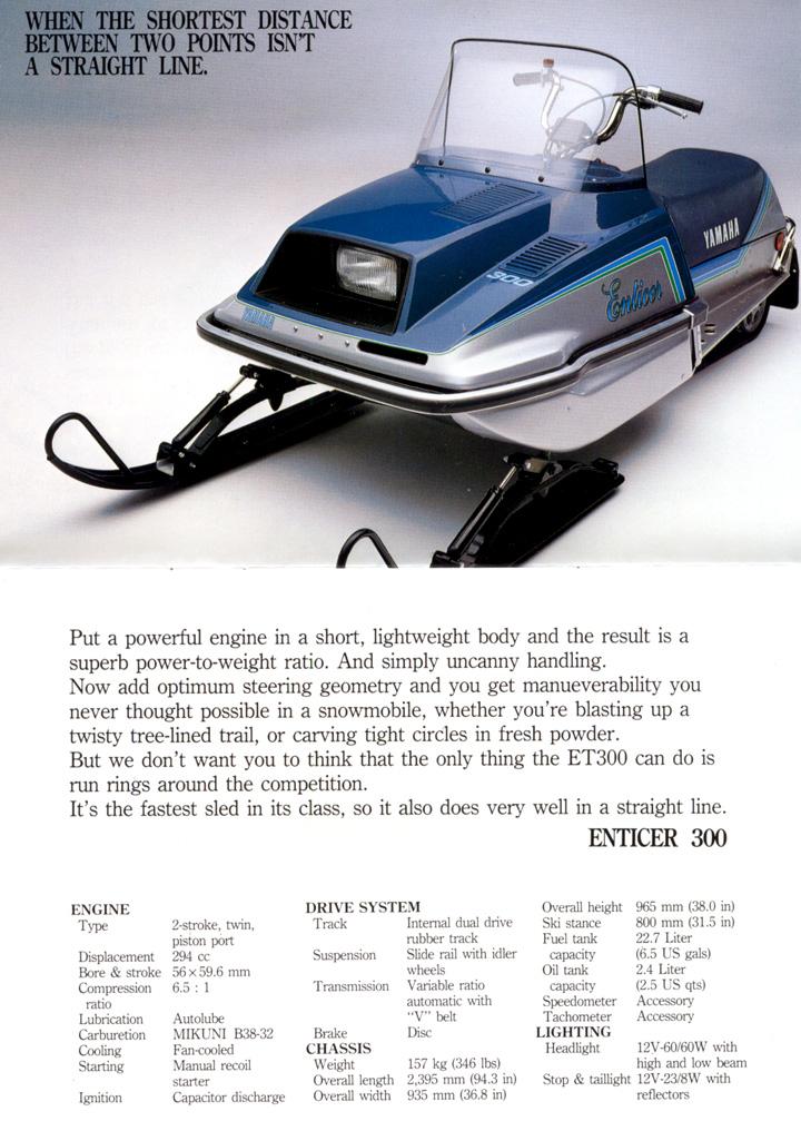 1983 Yamaha Enticer 340