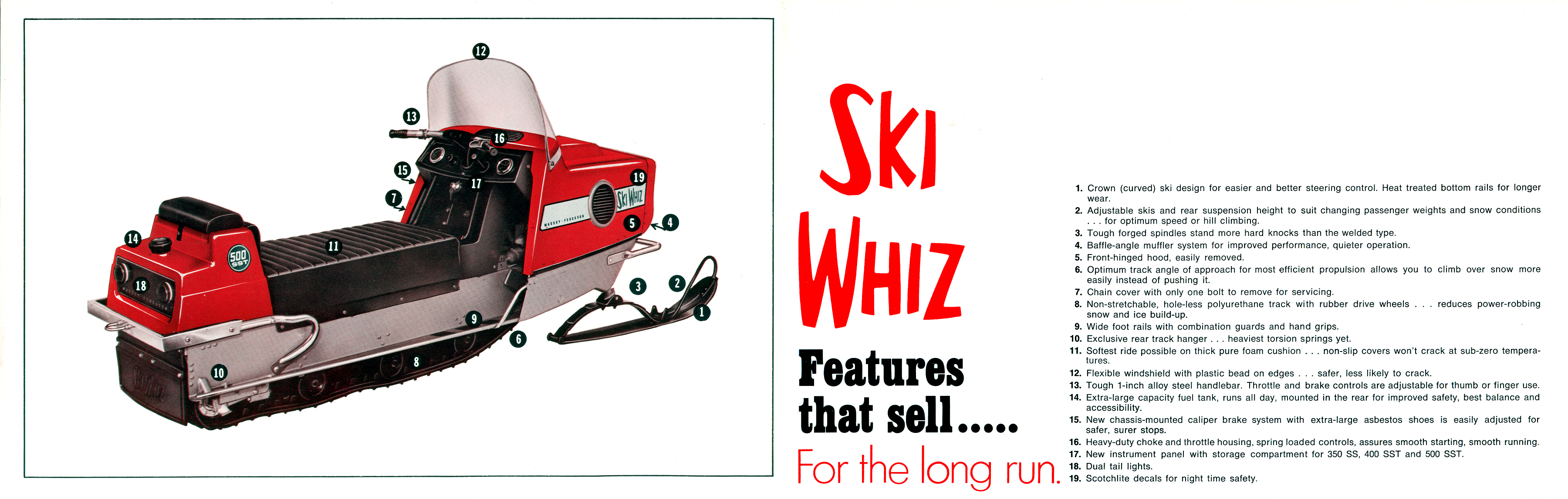 Ski whiz snowmobiles for sale - 1971 Massey Ferguson Ski Whiz Snowmobile Brochure